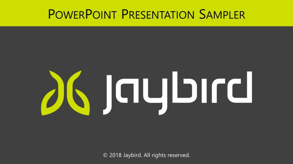 Jaybird PowerPoint Title Slide