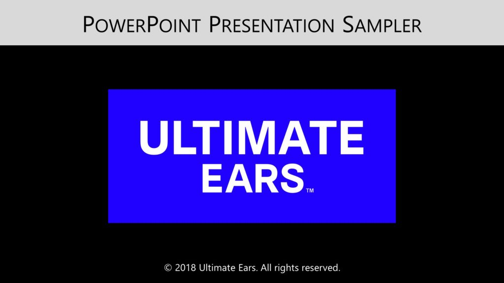 Ultimate Ears PowerPoint Title Slide